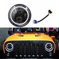 7-дюймовая круглая светодиодная фара с адаптером H4 to H13  подходит для Jeep Wrangler JK LJ TJ CJ  автомобильные аксессуары