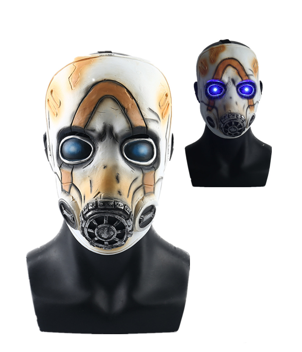 Yacn New Game <font><b>Borderlands</b></font> 3 Psycho Cosplay Mask Full Face Latex LED Light Adult Props Costume Party Halloween image