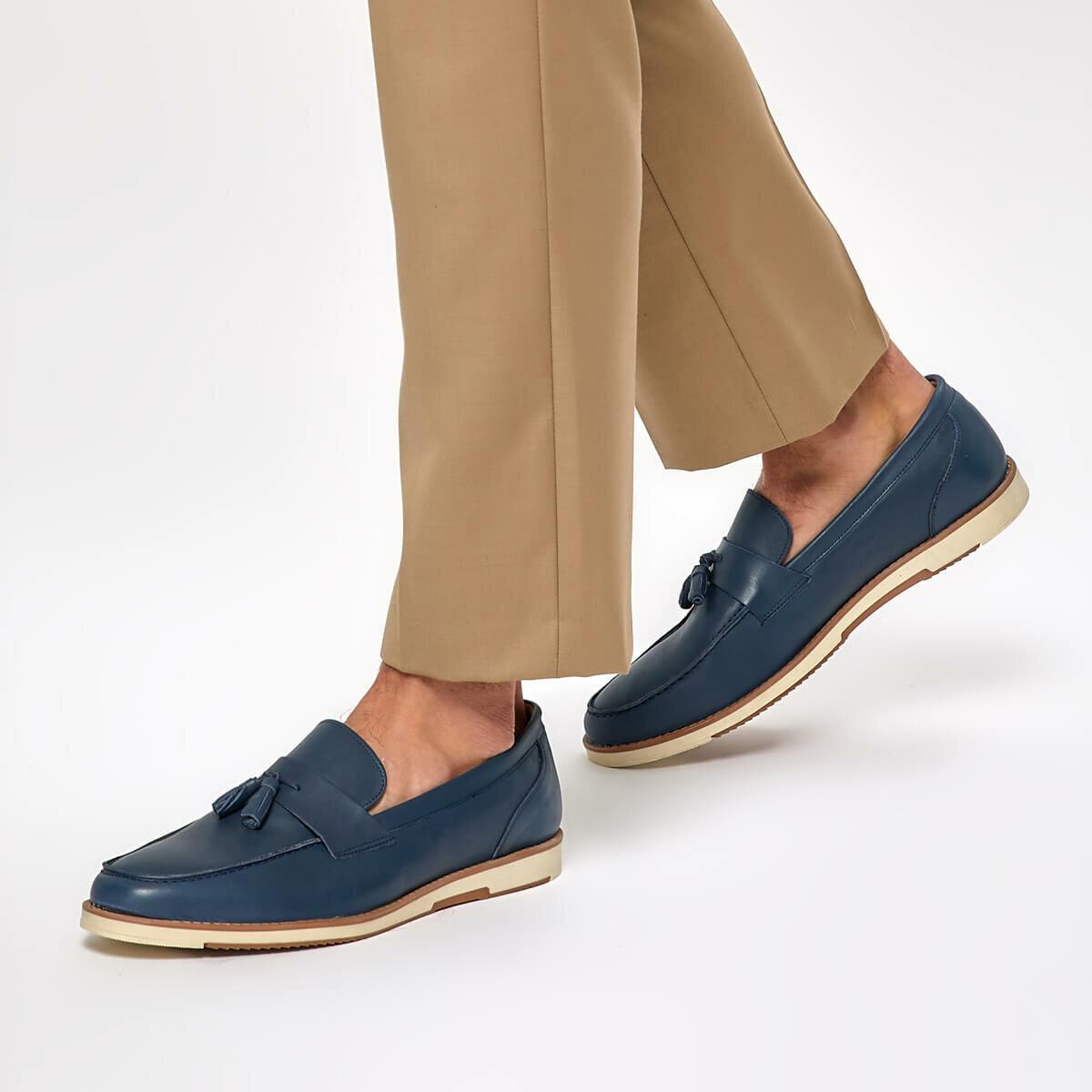 FLO ERG-300 Navy Blue Men 'S Classic Shoes Garamond