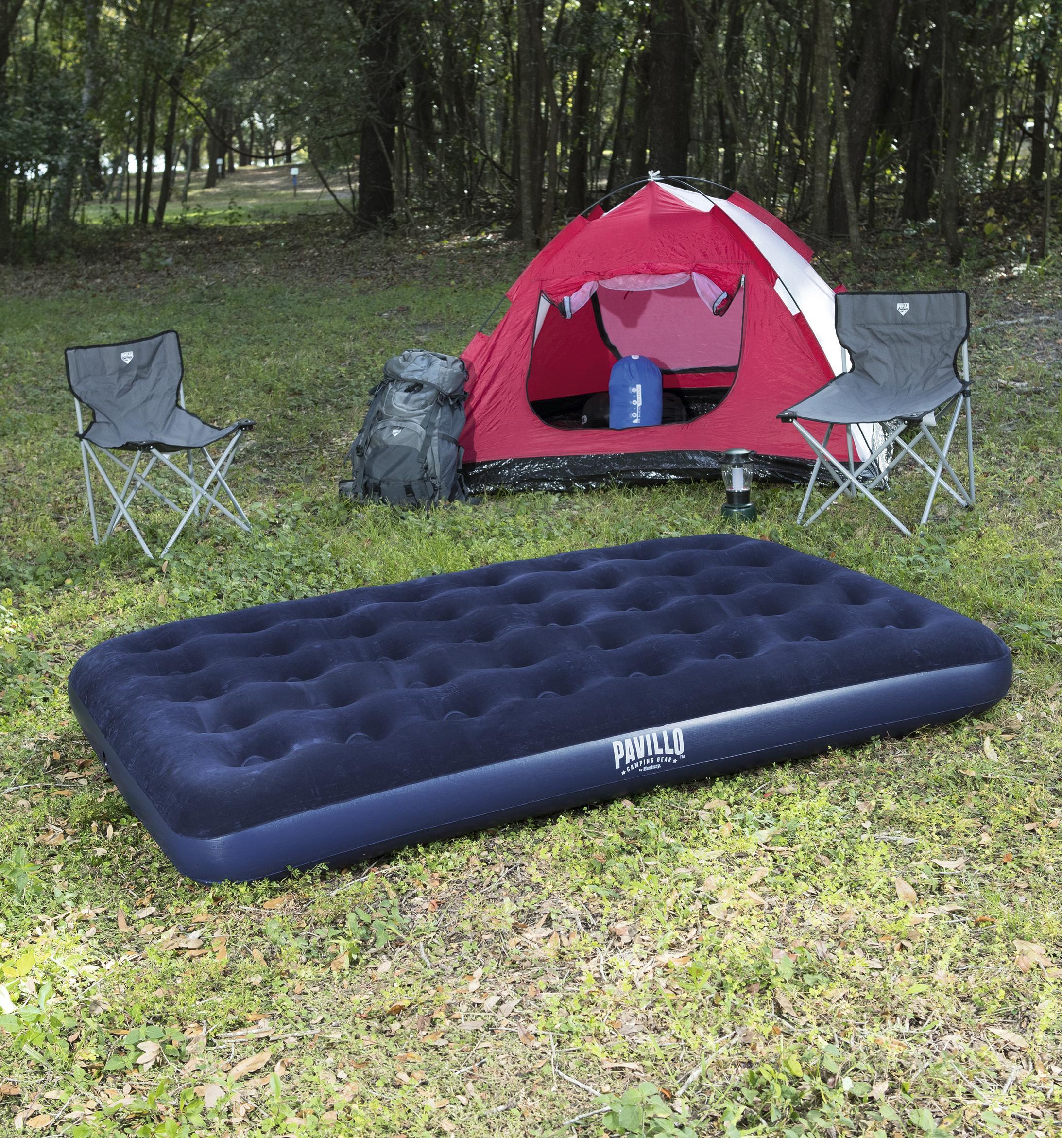 Mattress Inflatable Double флокированный 191 х137х22 Cm, Blue, Bestway, Item No. 67002
