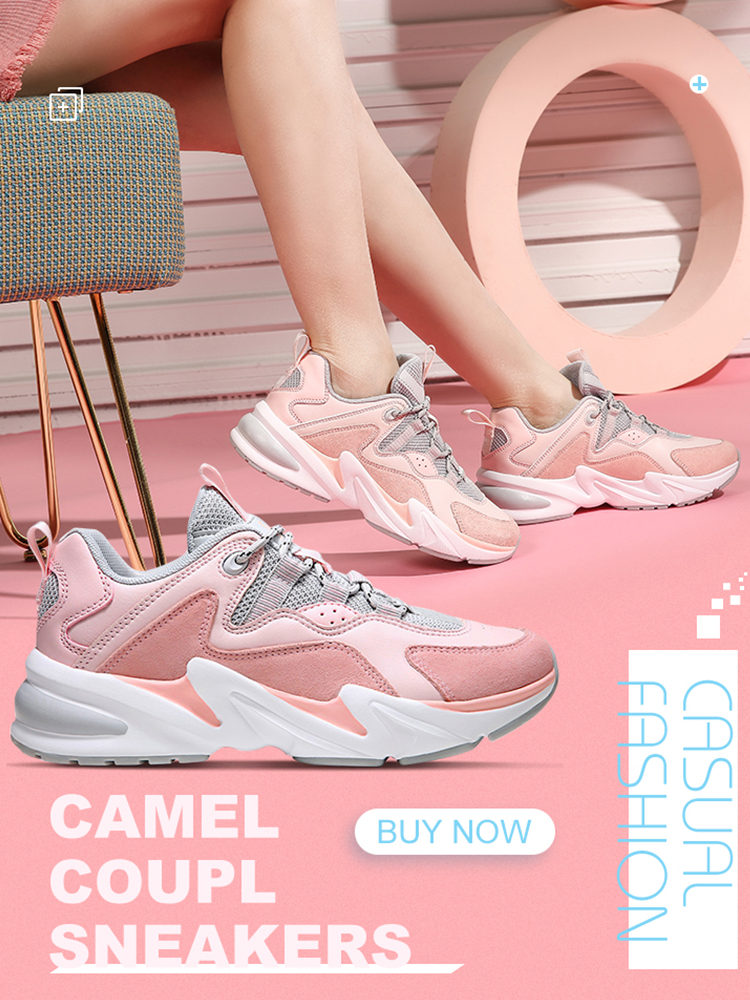 CAMEL Sneakers Shoes Fashion Women Outdoor Unisex Couple Leisure Men's