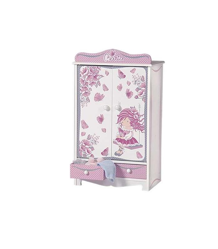 Wardrobe Wood Maria 54X32X20 CM Toy Store
