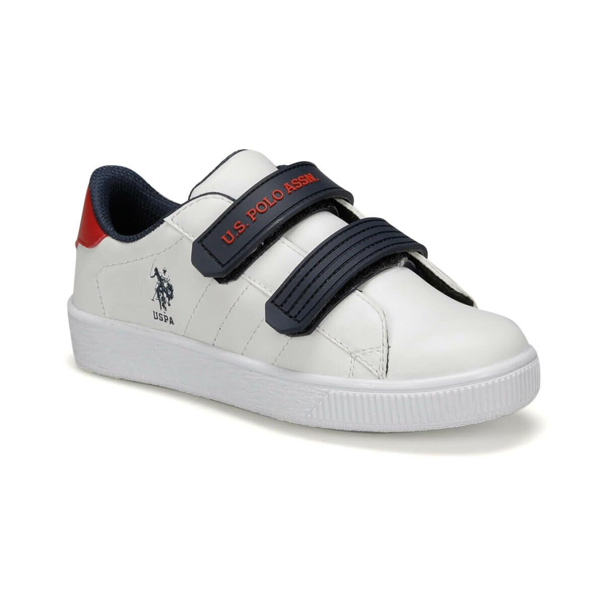 FLO CINO 9PR White Male Child Sneaker Shoes U.S. POLO ASSN.