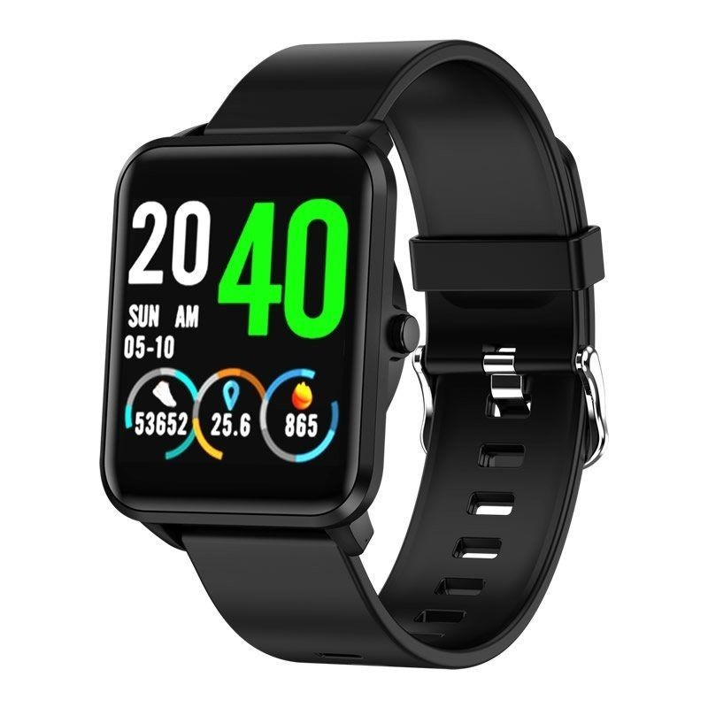 Smart Watch Leotec Funny All Black-touch Screen Color 3.3 Cm-bt-multisport-pulsometer-oximetro -ip67-bat
