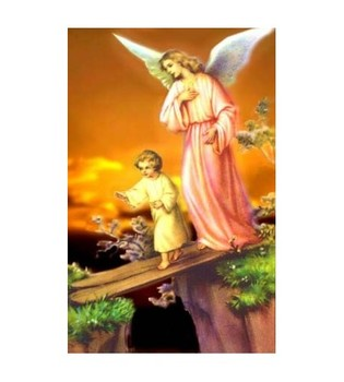 HOLY Size License Plasticized Guardian Angel
