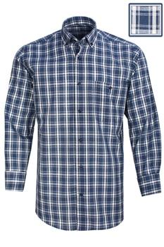 Men's Shirt Plaid 100% Cotton Shirts For Men Single Patch Pocket Long Sleeve Button-down Shirt Casual Regular Fit by Varetta plus size patch pocket long sleeve plaid t shirt