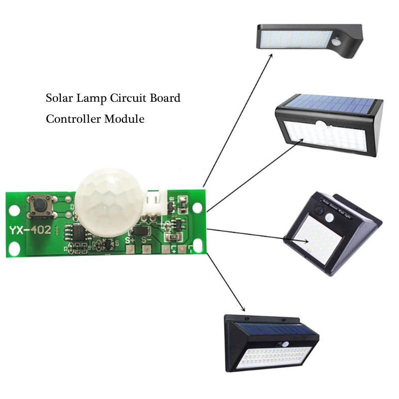 3.7V DIY Kit Solar Lamp Board Control Sensor Night Light Module Controller Module Infrared Solar Lamp Board Panel Circuit Board