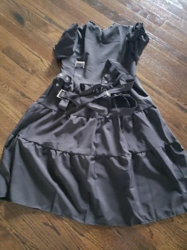 Japanese Harajuku Streetwear Loose Lace Up Dress photo review