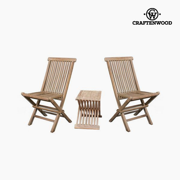Table Set With 2 Chairs Teak (3 Pcs) By Craftenwood