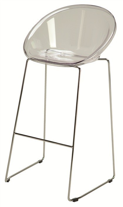 Stool DICKENS, Plating, Transparent