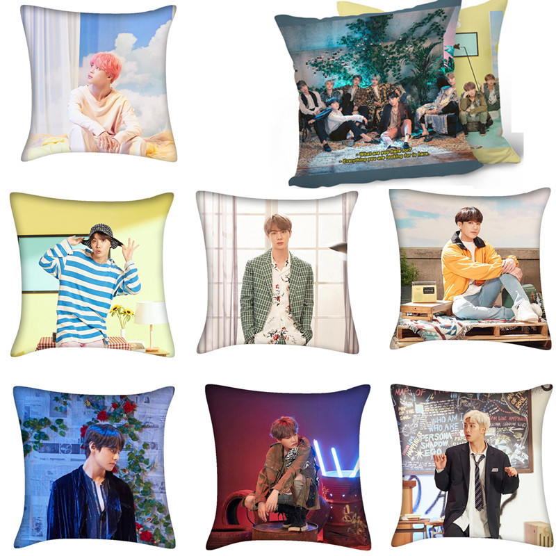 KPOP Bangtan Boys 5TH MUSTER FESTA JIMIN JK J-HOPE RM JIN RM Printed Throw Pillow Bedding Soft Sofa Cushion Home Decor YH433