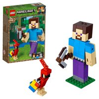 Designer Lego Minecraft 21148 large figure: Steve with a parrot
