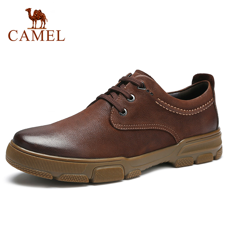 New Top Genuine Leather Men's Shoes Men Business Trend Light Comfortable Matte Texture Wear-resistant Anti-slip Casual Shoes