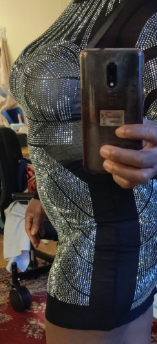 Women Club Sequin Glitter Diamond Dress photo review
