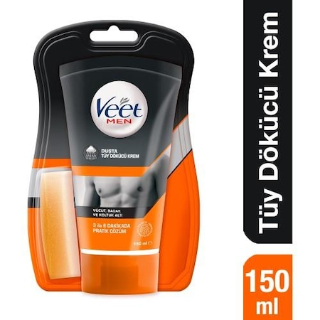 Veet Men Showerproof Depilatory Cream 150 Ml Men Custom Hair