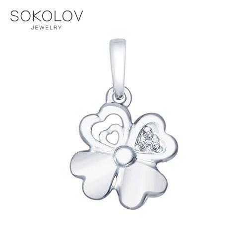 SOKOLOV Suspension Of Silver With Fianitami Fashion Jewelry 925 Women's Male
