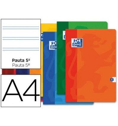 SCHOOL BOOK OXFORD 48 H DIN A4 2 STRIPES PATTERN 10 Units