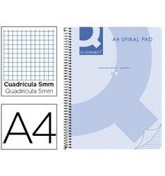 Спиральная записная книжка Q подключения A4 микро пластиковая крышка 80H 70G стол 5 мм без полос 4 отверстия синий 5 шт