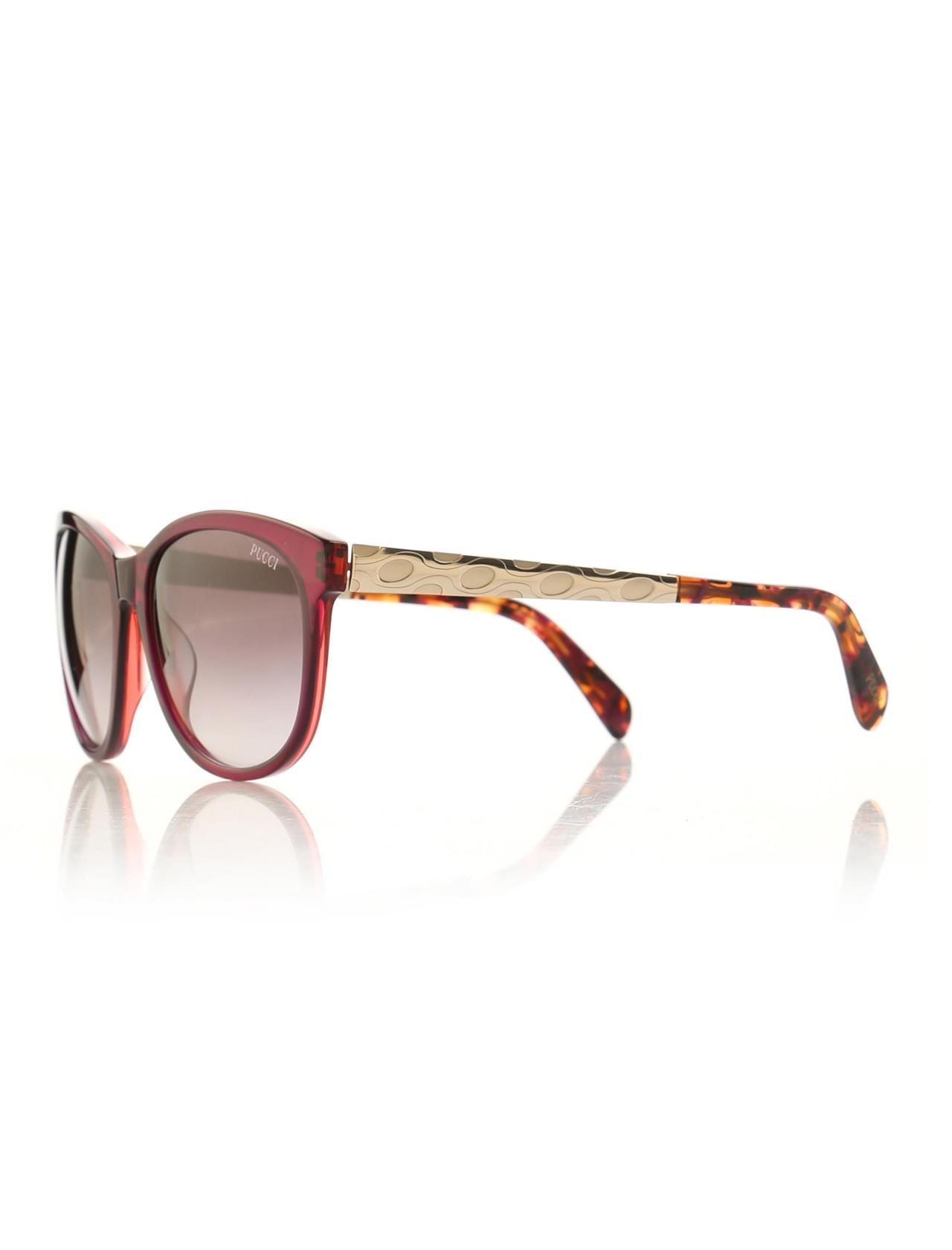 Women's sunglasses ep 0022 71t Bone purple organic rectangle rectangular 57-16-140 emilio pucci