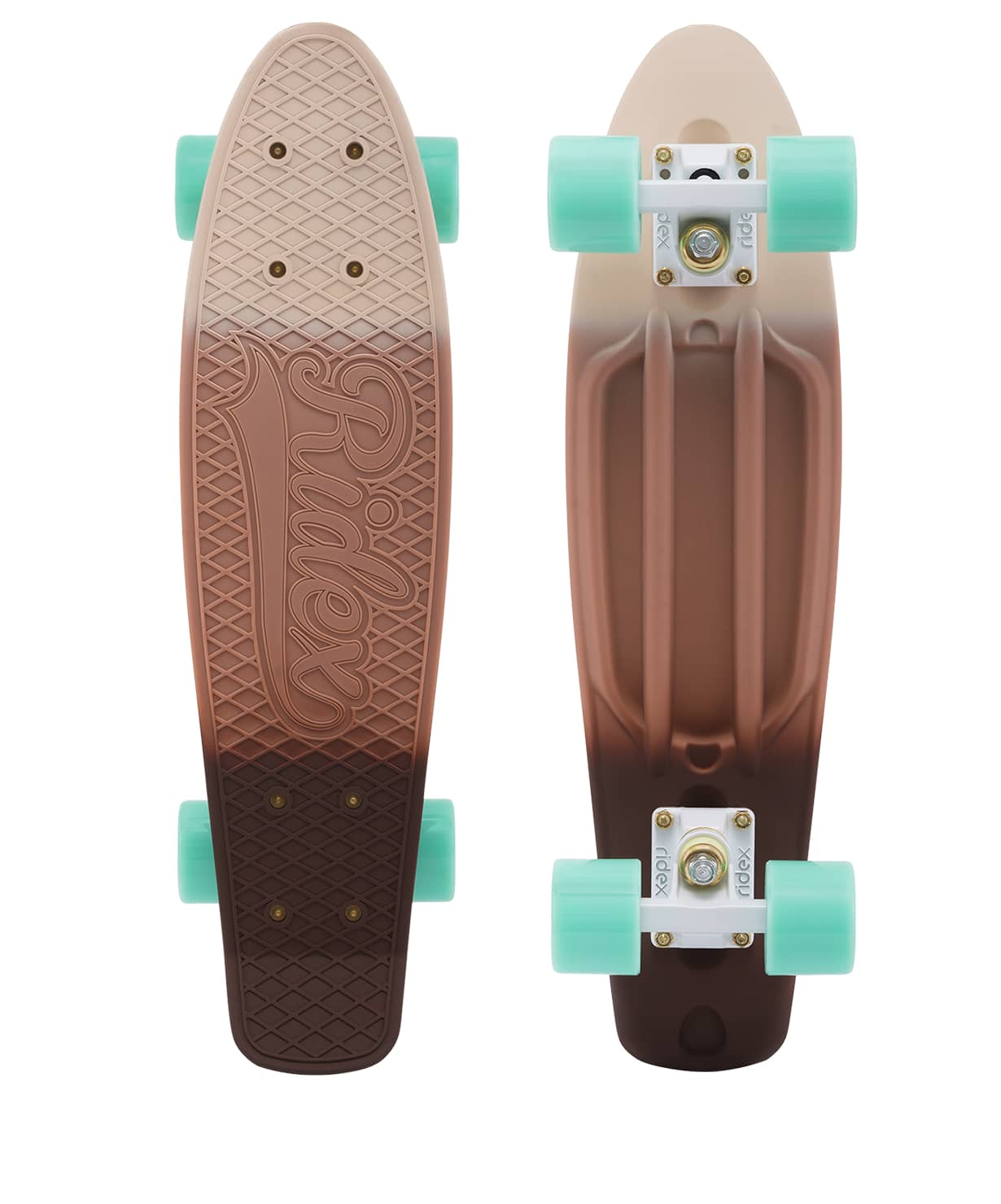Skateboard Cruiser Plastic Ridex 22 ''x 6'', Abec-7, Cappuccino