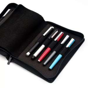 Image 5 - Kaco caneta bolsa caneta caso saco cor preta estilo de negócios 10 bolsos caneta para penbbs hongdian moonman elike escritório escola suprimentos