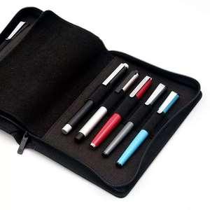 Image 5 - Kaco pen pouch pen case bag Black Color Business Style 10 Pen Pockets For Penbbs Hongdian Moonman Delike Office school supplies