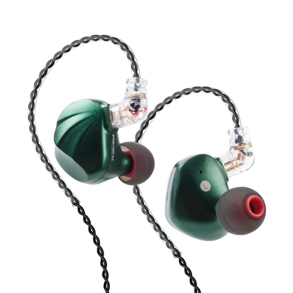 AK TRN VX 6BA 1DD Hybrid Metal In Ear Monitor Earphone HIFI Sport Earphone Earplug Headset Headplug v90 v80 BT20S with QDC 3 5mm