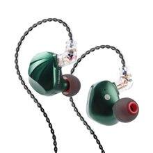 Ak trn vx 6ba + 1dd híbrido metal no monitor de ouvido fone de ouvido de alta fidelidade esporte fone de ouvido earplug headplug v90/v80/bt20s com qdc 3.5mm