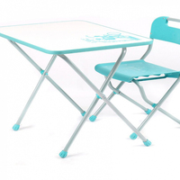 Table chair retro. Children furniture from 3 to 7 years old.