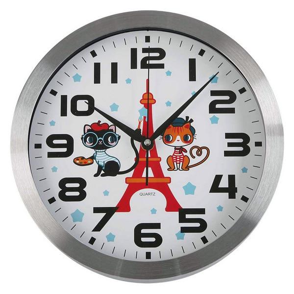 Wall Clock Paris Plastic (4 x 30 x 30 cm)