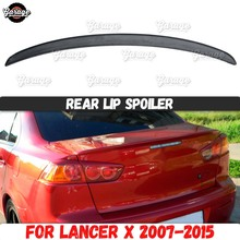 Rear lip spoiler for Mitsubishi Lancer 10 2007 2015 on lid trunk  ABS plastic trim aerodynamic saber wing sport pad car tuning
