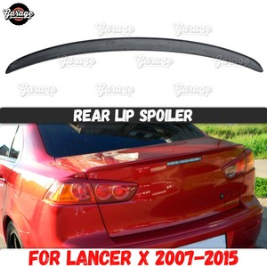 Image 1 - Spoiler à lèvre arrière pour Mitsubishi Lancer 10 2007 2015 sur le couvercle du coffre ABS garniture en plastique ABS aérodynamique saber wing sport pad