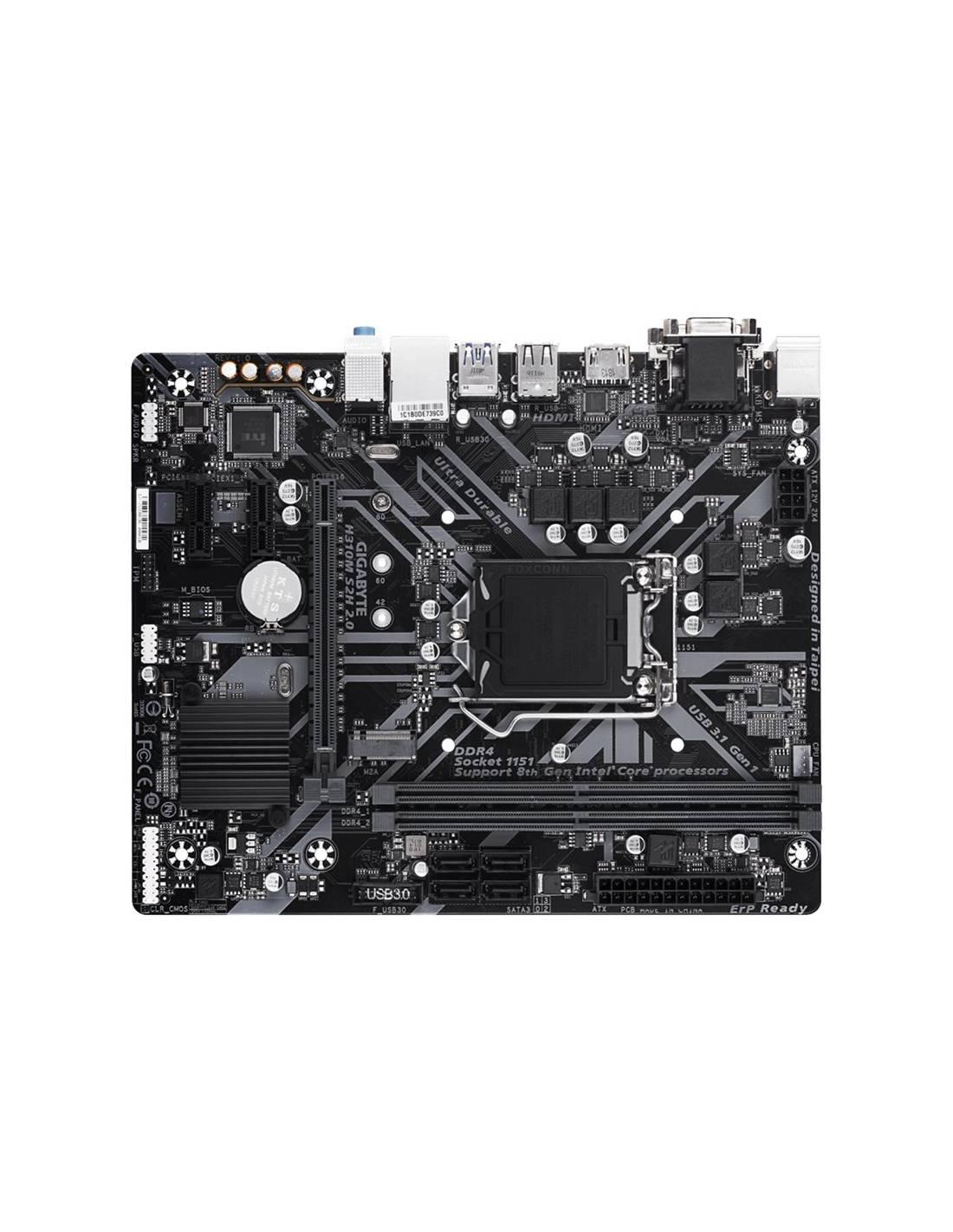 Placa base Gigabyte H310M S2H 2.0 Intel LGA 1151