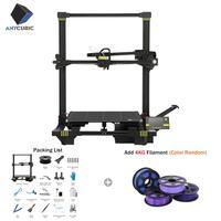 ANYCUBIC чугун 3d принтер большой плюс размер 400x400x450 мм экструдер двойной Z Axisolor PLA нити комплект Impressora 3d Drucker