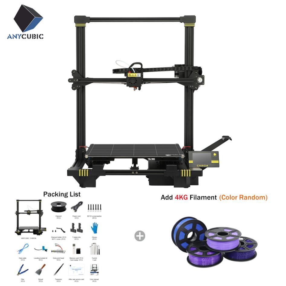 ANYCUBIC Chiron 3D Impressora De Grande Plus Size 400x400x450 milímetros PLA Filamentos Extrusora Dupla Z Axisolor Kit impressora 3d Drucker