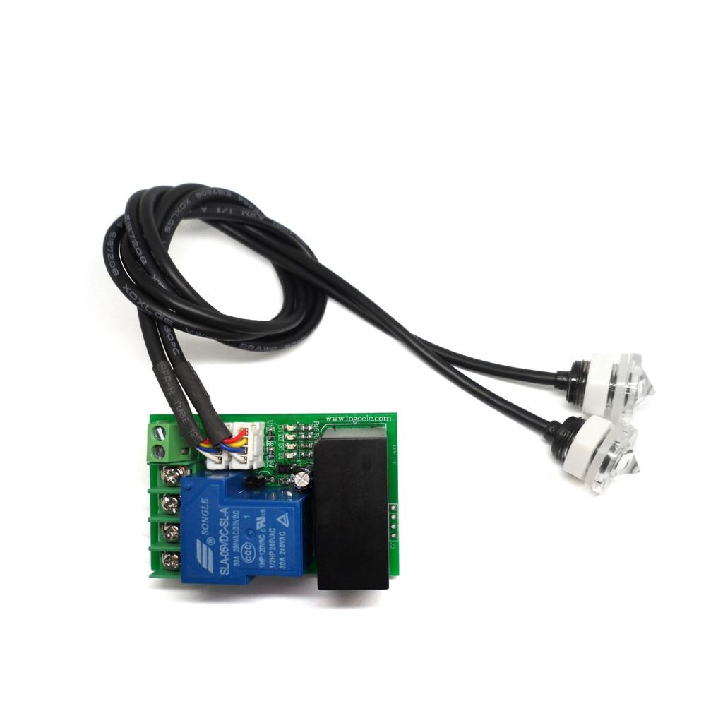 Taidacent Double Detect Liquid Optical Level Sensor Infrared Water Level Sensor Relay Switch Output Liquid Level Monitor Sensor