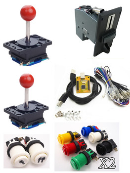 1 kit for Juyao Arcade to USB controller 2 player MAME Multicade Keyboard Encoder, USB to Jamma with coin acceptor