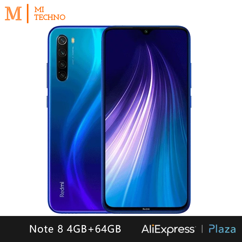 Xiaomi Redmi Note 8 Smartphone (4GB RAM 64GB ROM mobile phone, free, new, cheap, 4000mAh battery, 48MP camera) [Global Version]