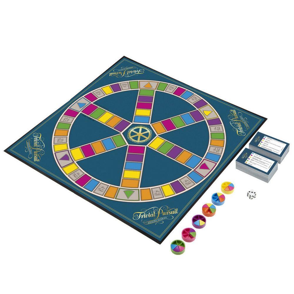Hasbro-juegos adulte Trivial classique gaming, plus de 16 ans Trivial, plus de 2400 questions ont répondu C1940105 - 3
