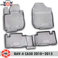 Boden matten für Toyota Rav4 CA30 2010 ~ 2013 teppiche non slip polyurethan schmutz schutz innen auto styling zubehör