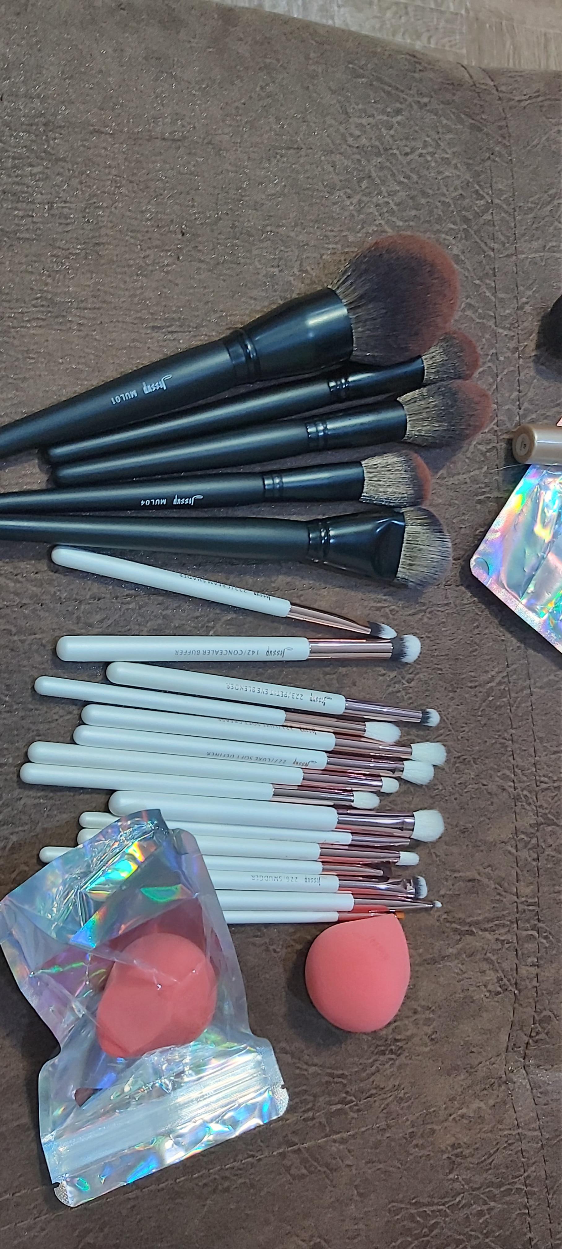 Jessup New Arrival Makeup brushes brushes Phantom Black 3-21pcs Foundation brush Powder Concealer Eyeshadow Synthetic hair reviews №1 177766