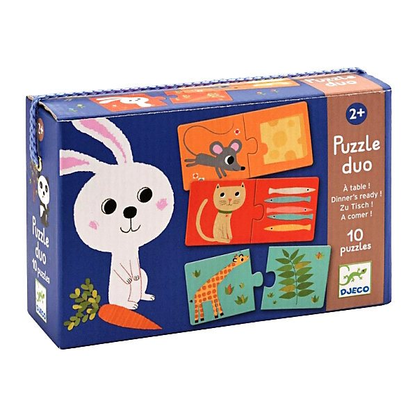 Puzzle duo TO THE table!, 20, DJECO wooden puzzle djeco autumn in the woods