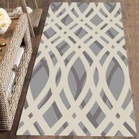 Else szary biały mieszane geometryczne linie Nordec 3d drukuj antypoślizgowe mikrofibry zmywalny Runner maty podłogowe dywaniki przedpokój dywany w Dywany od Dom i ogród na
