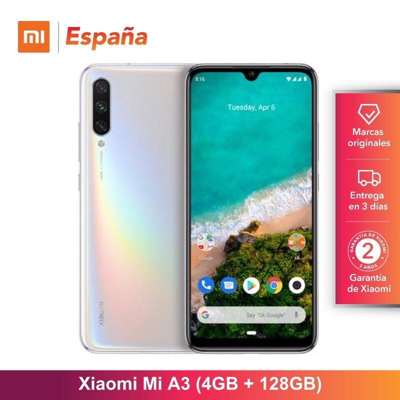 Xiao mi mi A3 (128GB ROM, 4GB RAM, cámara de 48MP Triplo, batería de 4030 mAh, o Android, Nuevo, Libre) [Teléfono Movil Versión Glo