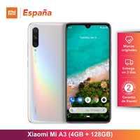 Xiaomi Mi A3 (128GB ROM, 4GB RAM, Triple cámara de 48MP, Batería de 4030 mAh, Android, Nuevo, Libre) [Teléfono Movil Versión Global para España]