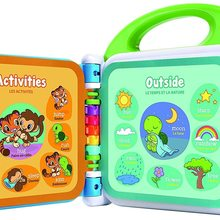 My first 100 words of CEPA, MULTICOLOR, educational toy with light and sound, English and Spanish songs, toy boy and girl