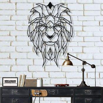 цена на Metal Wall Art, Geometric Metal Lion Head, Metal Wall Decor, Office Wall Art, Geometric Wall Art, Metal Wall Sign, Metal Art