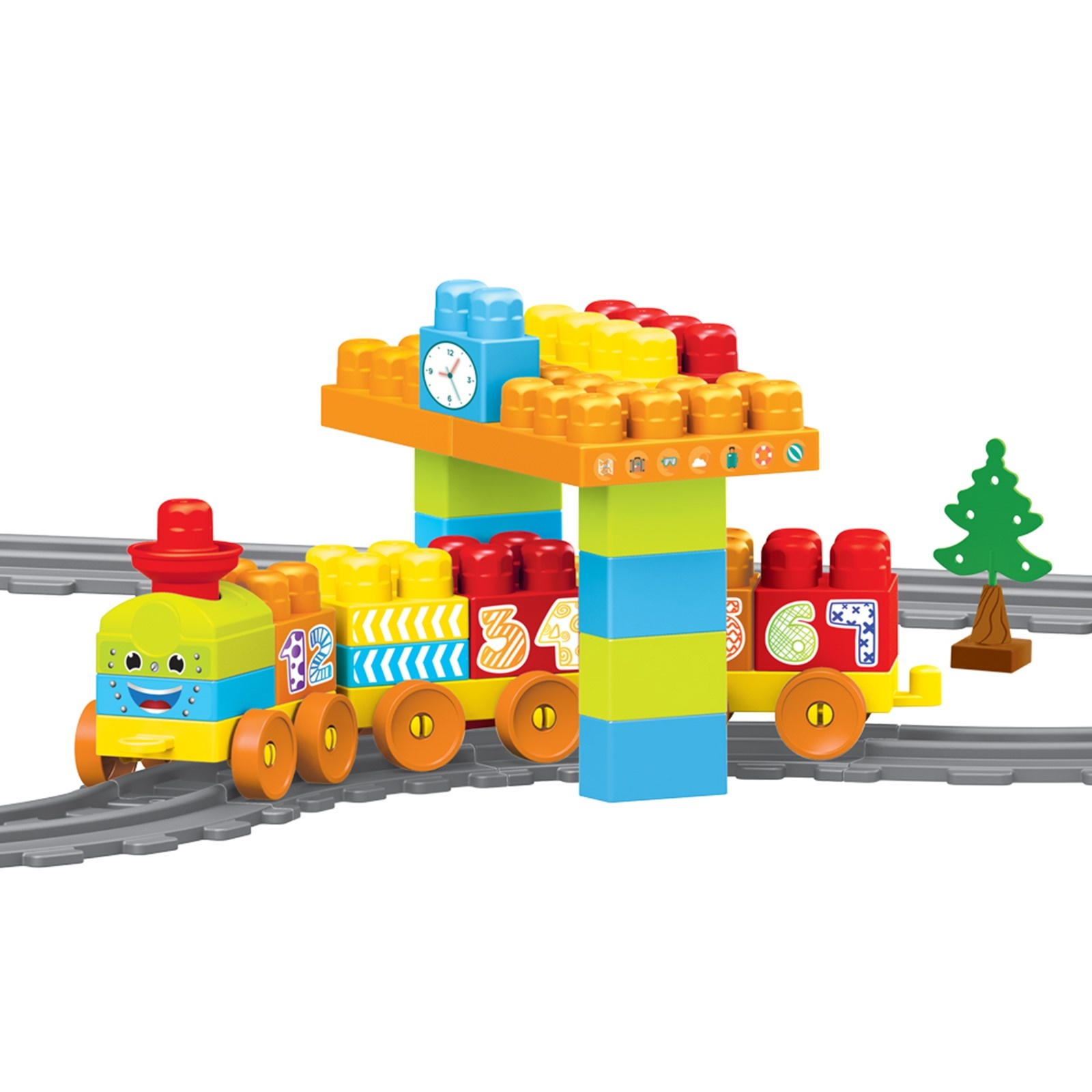 Ebebek Dolu Train Set-58 Pieces