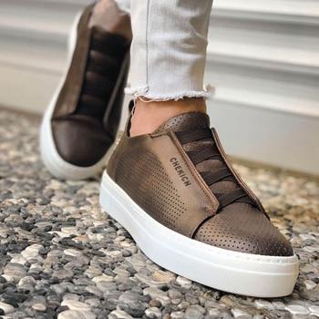 цена на Chekich CH011 IT Men 'S Shoes COFFEE. 100 Vegan 100 Cotton Shoe sneaker air van chaussure loafer trainer uomo money footwear