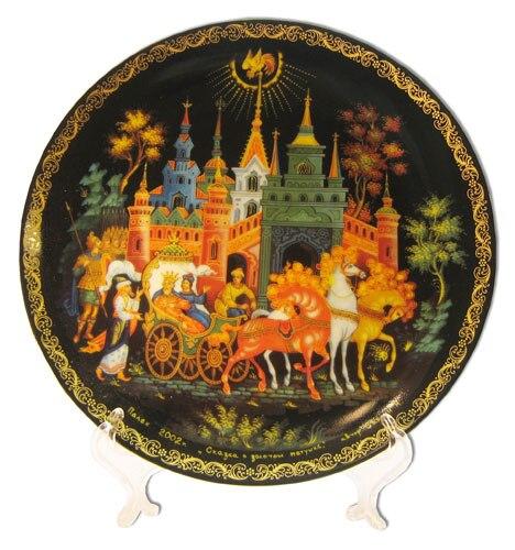 Тарелка 20 31 Палех Золотой петушок